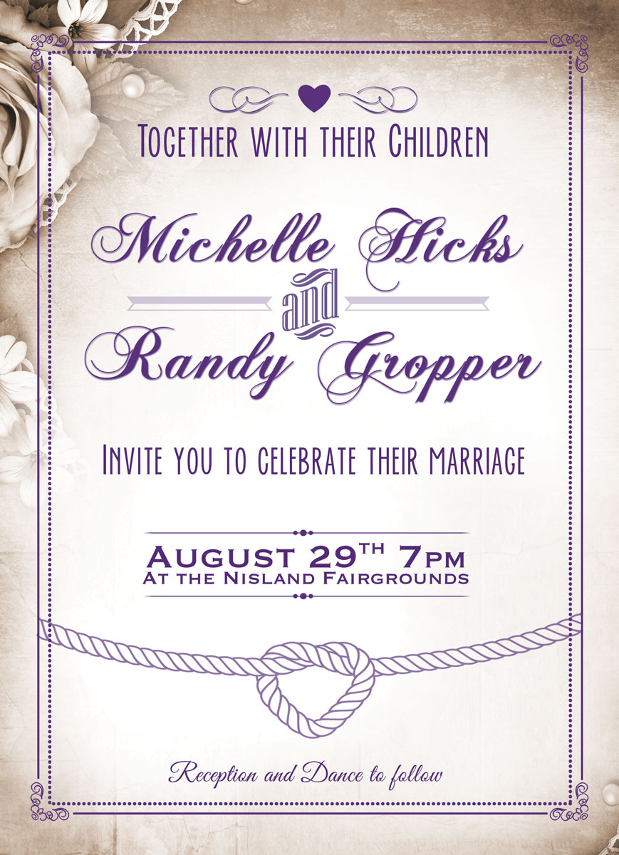 Gropper Wedding Invitation