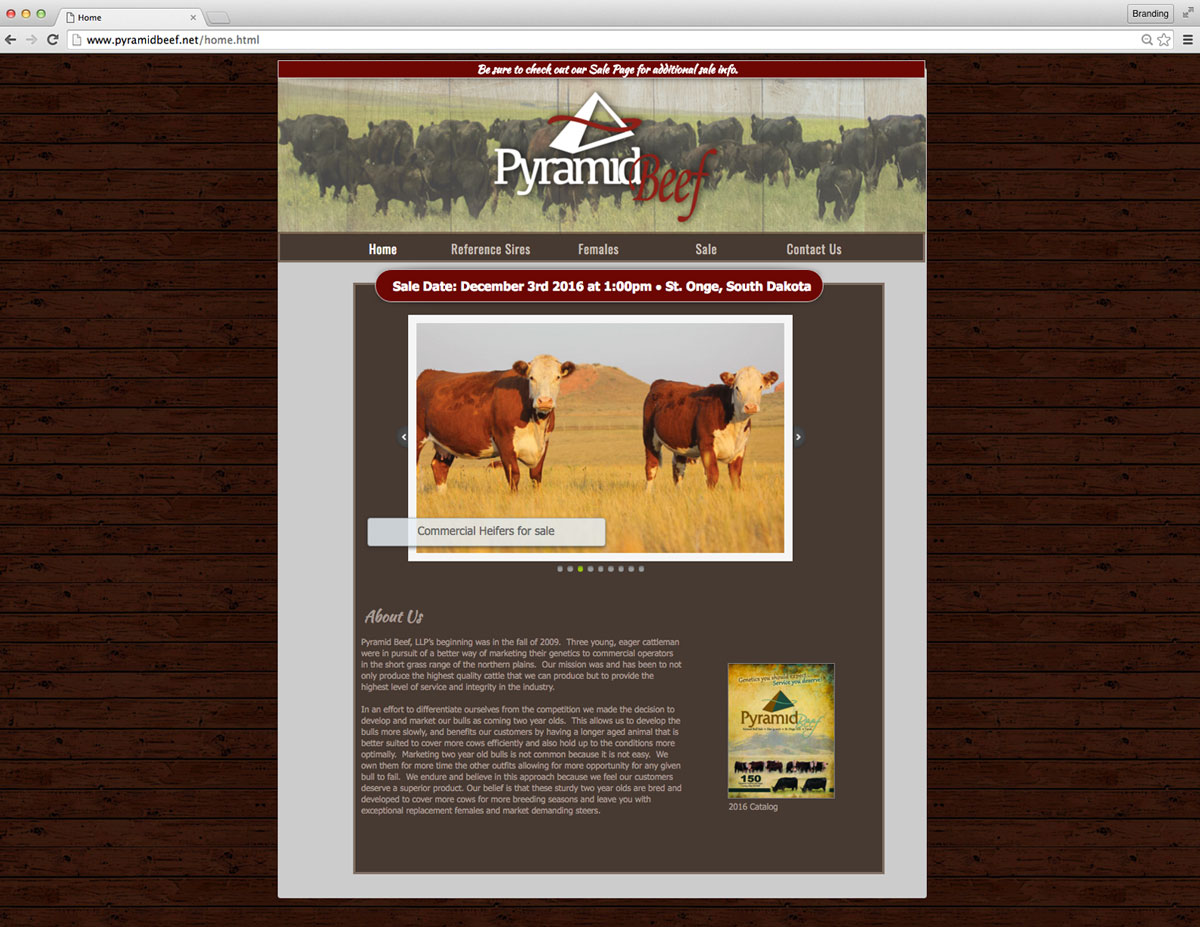Pyramid Beef Website